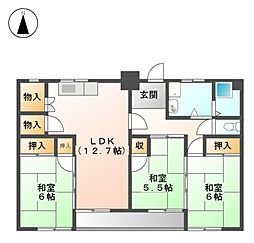 黒川住宅[10階]の間取り