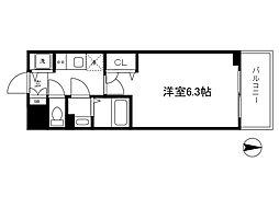 Osaka Metro長堀鶴見緑地線 西大橋駅 徒歩5分の賃貸マンション 7階1Kの間取り