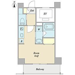 DECO 2階ワンルームの間取り