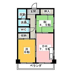 トキワメゾン[4階]の間取り