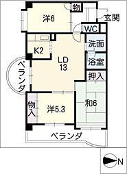 サンライト[3階]の間取り