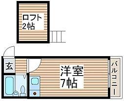 エステート西川口I[2階]の間取り