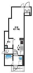 The Park Maison hazawa[1階]の間取り