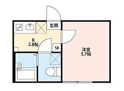ジェムステージ梅島[3階]の間取り