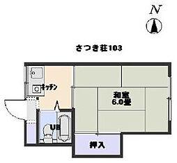 さつき荘[1階]の間取り