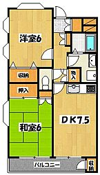 セントピアプラザB棟[2階]の間取り