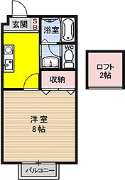 フルーレ仰木[203号室号室]の間取り