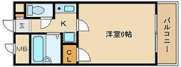 ラフィネアルブル[1階]の間取り