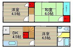 [タウンハウス] 大阪府堺市西区浜寺石津町東3丁 の賃貸【/】の間取り