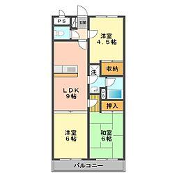 東京都江戸川区北篠崎2丁目の賃貸マンションの間取り