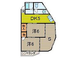 松川マンション[4階]の間取り