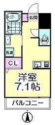 ウィンズハウス竹の塚[302号室]の間取り