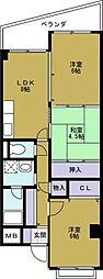 シャトー弁天弐番館[7階]の間取り