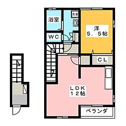 小野ハイツ1号[2階]の間取り