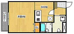 リノ・パラッツォ 1階1DKの間取り