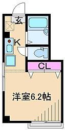 K&N SUZUKI[201号室]の間取り