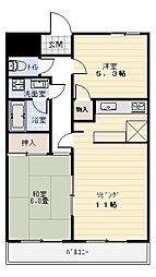 メゾンカリフ[3階]の間取り
