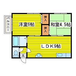 北海道札幌市東区本町一条2丁目の賃貸アパートの間取り