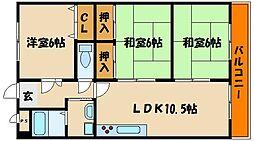 カームハイツ3番館[2階]の間取り