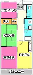 ヒルグレイス武蔵野[1階]の間取り