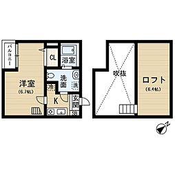 アパートメントU[201号室]の間取り
