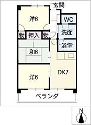 Axis12[3階]の間取り