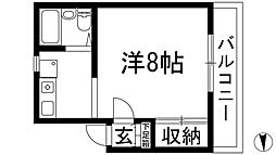 リバーサイド石橋[3階]の間取り
