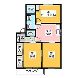 グランメールM[2階]の間取り