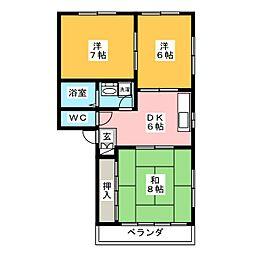 メゾン吉村 A棟[2階]の間取り