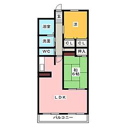 ミクニハイツII[7階]の間取り