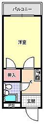 レガーレ駒川[3階]の間取り