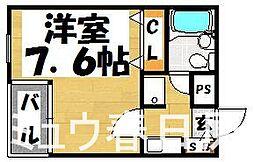 福岡県春日市小倉3丁目の賃貸マンションの間取り