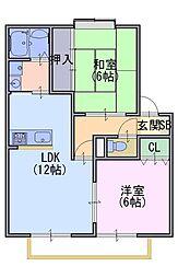 エーデルハイム1[1階]の間取り