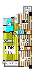 AXIS別所[13階]の間取り