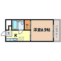 滋賀県大津市三井寺町の賃貸アパートの間取り
