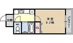 パラシオン京都[203号室号室]の間取り