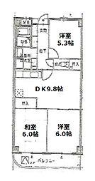 スペーシア江古田[3階]の間取り