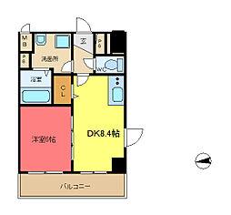 ディオーネ・ジエータ・長堂[210号室]の間取り