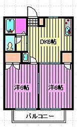 埼玉県さいたま市西区大字内野本郷の賃貸アパートの間取り
