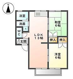 ファミール88 B棟[2階]の間取り