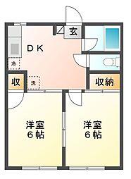 サンハイム3号[1階]の間取り
