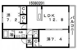 シャーメゾンパインハイツ[1階]の間取り