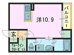 モデルノ1[106号室]の間取り
