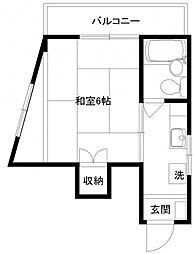 コーポ松井[204号室]の間取り