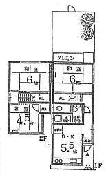 [一戸建] 京都府向日市鶏冠井町上古 の賃貸【/】の間取り