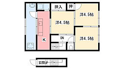 荒石アパート[202号室]の間取り