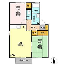 セジュールMT II[2階]の間取り