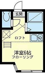 神奈川県横浜市保土ケ谷区鎌谷町の賃貸アパートの間取り