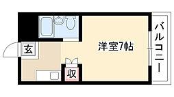 愛知県名古屋市瑞穂区下坂町1丁目の賃貸アパートの間取り