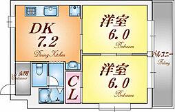 Ritz舞子坂II[4階]の間取り